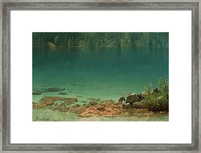 Lake Scene Framed Print by Albert Bierstadt