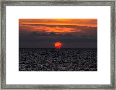 Lake St. Clair Sunrise Framed Print by Cale Best
