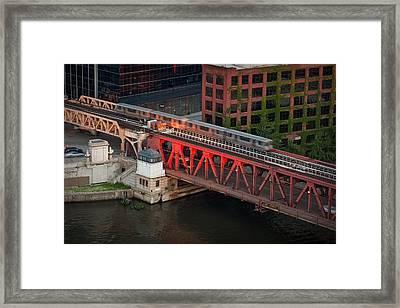 Lake Street Crossing Chicago River Framed Print by Steve Gadomski