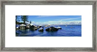 Lake Tahoe In Wintertime, Nevada Framed Print
