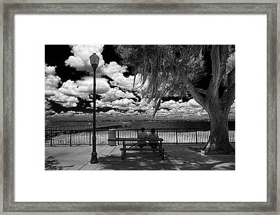 Framed Print featuring the photograph Lake View by Lewis Mann