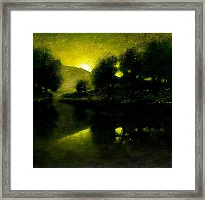 Lakeside Sunset Framed Print