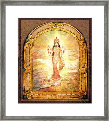 Lakshmis Birth From The Milk Ocean Framed Print by Ananda Vdovic
