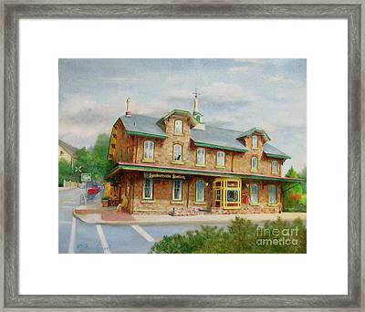 Lambertville Inn Framed Print