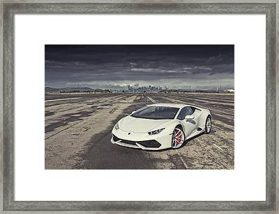 Framed Print featuring the photograph Lamborghini Huracan by ItzKirb Photography