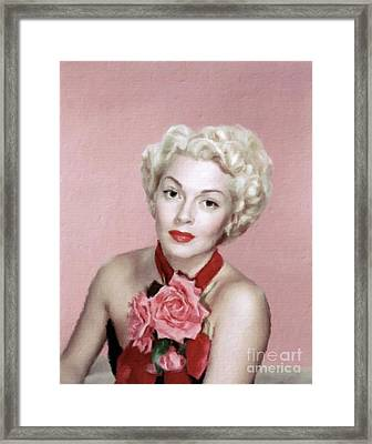 Lana Turner Vintage Hollywood Actress Framed Print