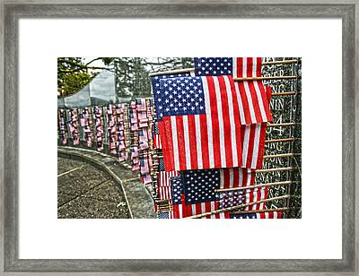 Land Of The Free Framed Print by Kerry Langel