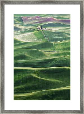 Framed Print featuring the photograph Land Waves by Ryan Manuel