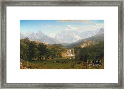 Lander's Peak Framed Print by Celestial Images
