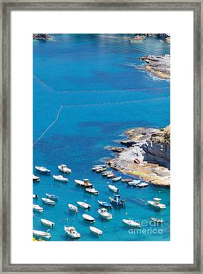 Landscape And Coast Of The Italian Island Ponza Framed Print by Wolfgang Steiner