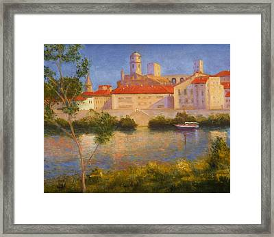 Landscape At Arles France Framed Print by David Olander