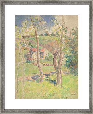 Landscape Framed Print by Camille Pissarro