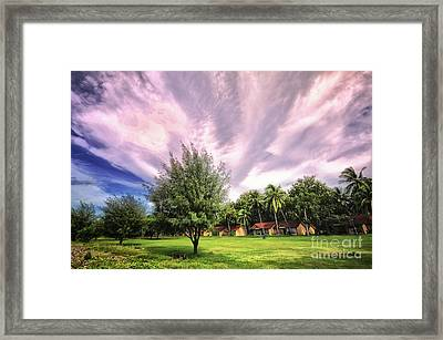 Framed Print featuring the photograph Landscape  by Charuhas Images