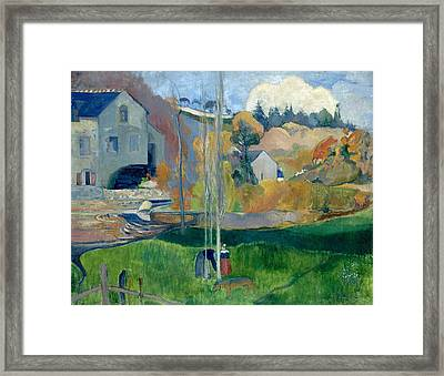 Landscape In Brittany. The David Mill Framed Print