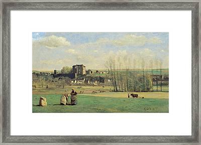 Landscape Of La Ferte-milon Framed Print by Jean-Baptiste-Camille Corot