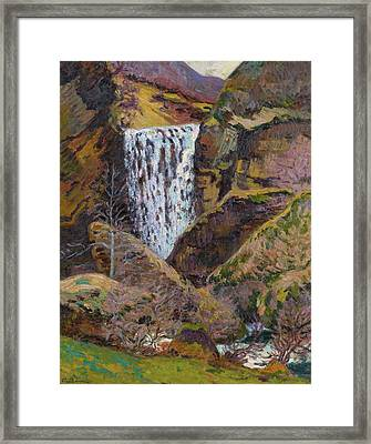 Landscape Of The Creuse Framed Print by Armand Guillaumin