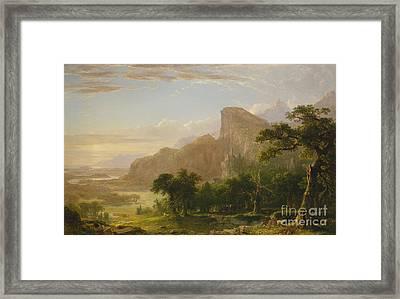 Landscape Scene From Thanatopsis Framed Print