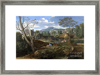 Landscape With Buildings Framed Print