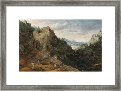 Landscape With Ironworks Framed Print