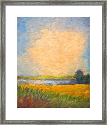 Landscape With Lake Framed Print by Lutz Baar