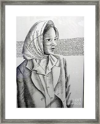 Language Of Cloth Framed Print by Tanni Koens