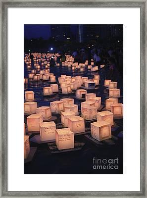 Lantern Ceremony Framed Print by Brandon Tabiolo - Printscapes