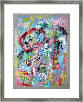 Large Abstract No 5 Framed Print by Michael Henderson
