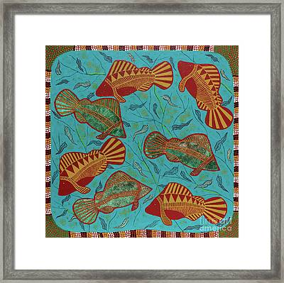 Large Barramundi Swimming  Framed Print
