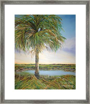 Large Palm Framed Print by Michele Hollister - for Nancy Asbell