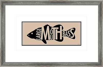 Largemouth Bass  Framed Print by Geoff Strehlow