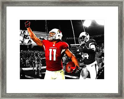 Larry Fitzgerald Framed Print by Brian Reaves