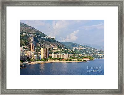 Larvotto Beach In Monaco Framed Print