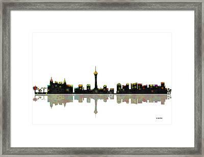Las Vegas Nevada Skyline Framed Print