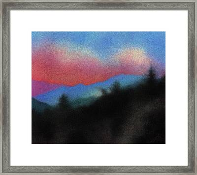 Last Light At Red Box Junction Framed Print by Robin Street-Morris