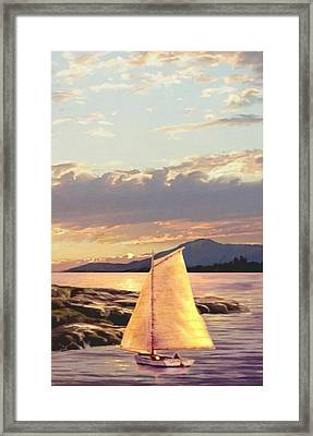 Last Light Segment 3 Framed Print