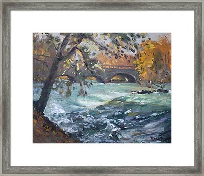 Late Afternoon By Niagara River Framed Print by Ylli Haruni