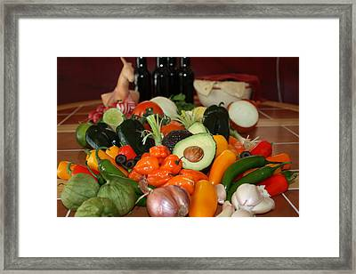 Latin American Ingredients  Framed Print by Gravityx9 Designs
