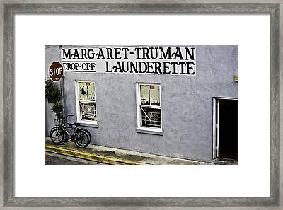 Launderette Framed Print by Sarita Rampersad
