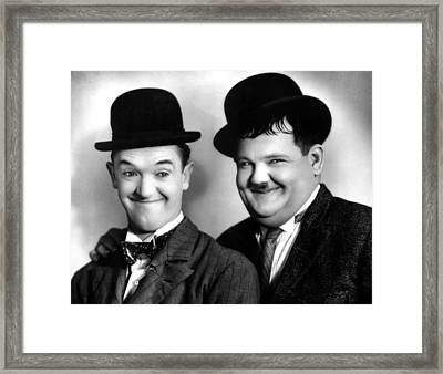 Laurel And Hardy Framed Print by Everett