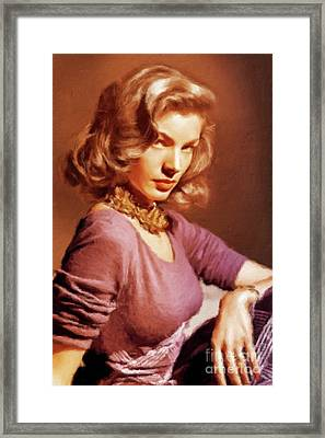 Lauren Bacall Vintage Hollywood Actress Framed Print