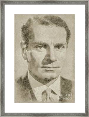 Laurence Olivier Hollywood And British Actor Framed Print by Frank Falcon