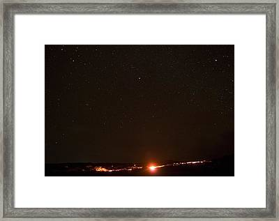Lava And Stars In Hawaii Framed Print by Fredrik Schenholm