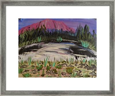 Lavender Mountain Framed Print by Marie Bulger