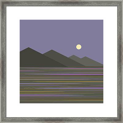 Framed Print featuring the digital art Lavender Sky  Reflections by Val Arie