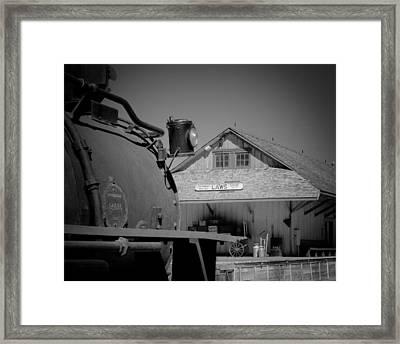 Laws Depot And Locomotive 9 Framed Print
