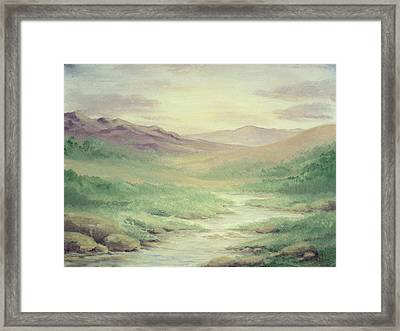 Lazy Creek Framed Print by Cathy Cleveland