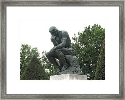 Le Penseur Framed Print