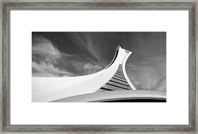 Framed Print featuring the photograph Le Stade Olympique De Montreal by Juergen Weiss