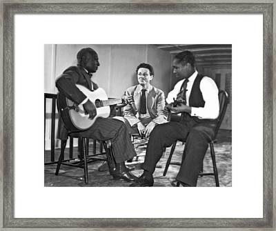 Leadbelly, Nicholas Ray, Josh White Framed Print