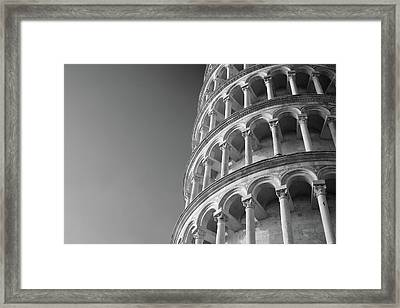 Framed Print featuring the photograph Leaning Tower Of Pisa by Richard Goodrich